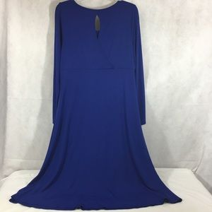 Eileen Fisher Maxi Long Sleeve Jersey Knit Dress M